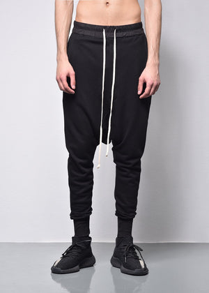 pocket low crotch straight Jogging pants ]