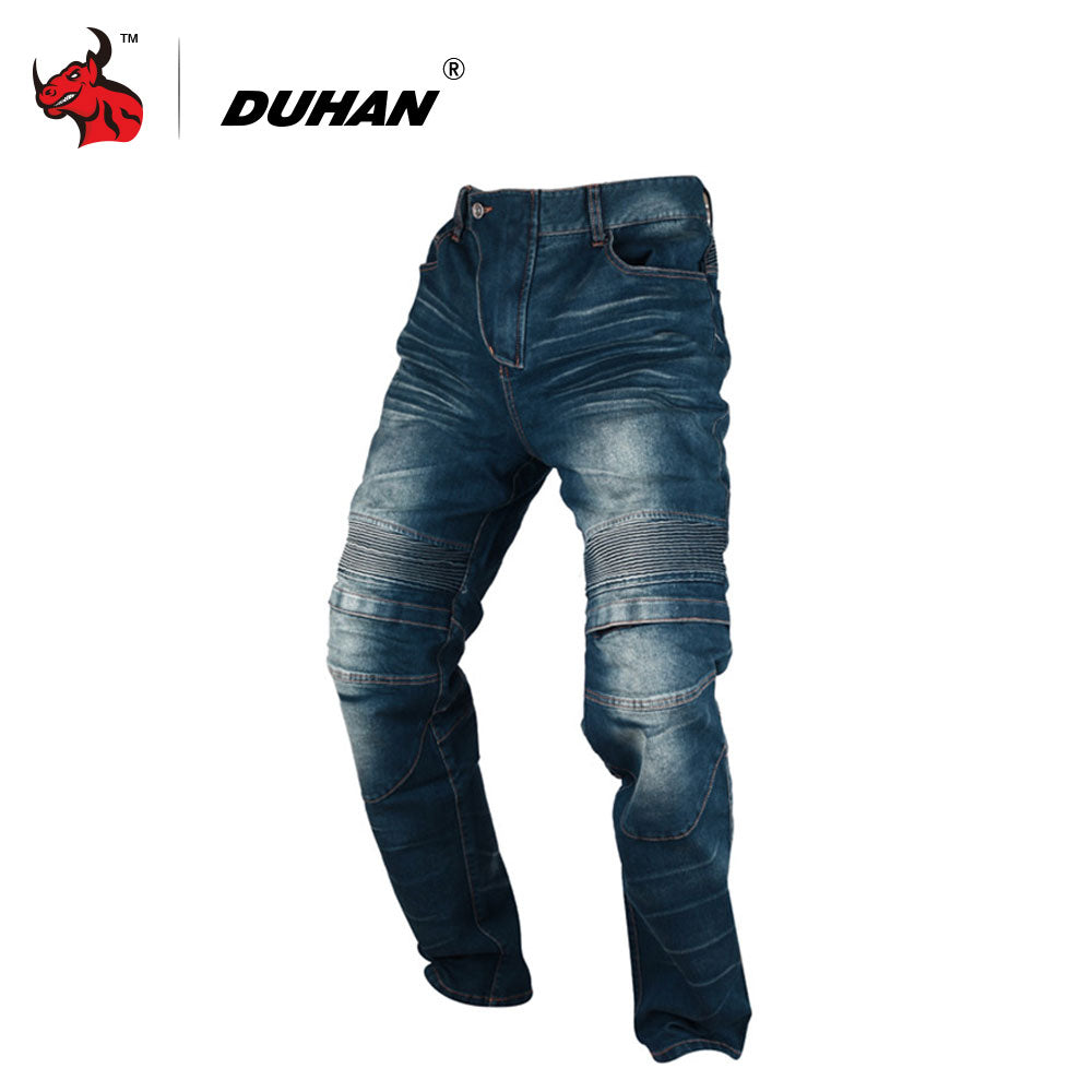 DUHAN MotorcycleJeans Casual Pants Men's Motorbike Motocross Off-Road Knee Protective Moto Jeans Trousers