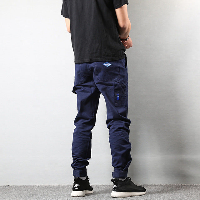Streetwear Men's Jeans Jogger Pants Casual Leisure Big Pocket Cargo Pants