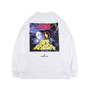 2018ss Best Quality UNDERCOVER Cooperation PLANET Printed Women Men Long Sleeve T shirt Hiphop Streetwear Men Cotton T shirt