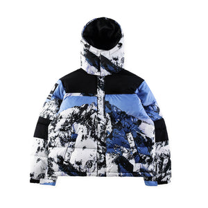 2018 Best Quality Winter Style Snowberg Printed Women Men Thick Padded Jackets Coats Hiphop Streetwear Men Cotton Hooded Jacket