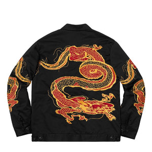 18FW Dragon Work Jacket Men Women 1:1 High Quality Embroidery Jackets