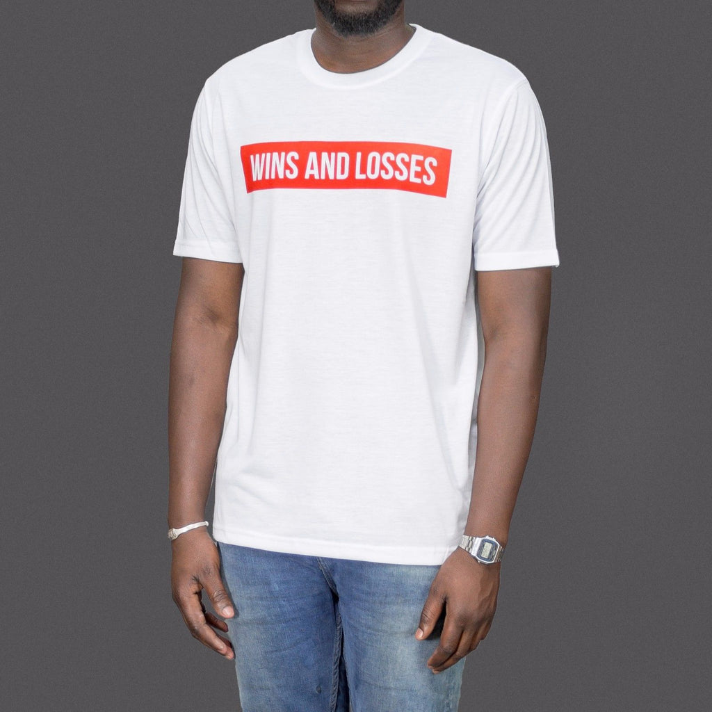 Wins And Losses Album cover White T-Shirt as worn by Hip Hop star Meek Mill