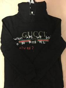 Gucci Classic Logo With Sentence Black Hoodies Size M-2XL