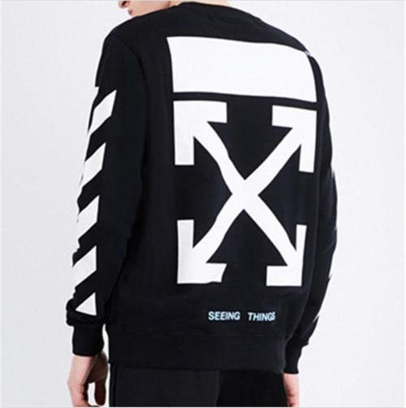 New Off White Hoodie C/O Virgil Abloh S/S Unisex Arrow Painting Sweater