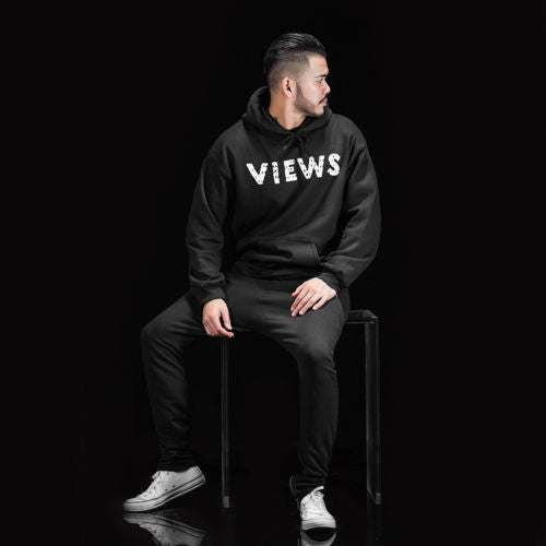 Drake Views From the Six MENS Black Hoodie - OVO Young Money Hiphop Sweatshirt