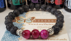 LTS Pink Tigers Eye Stretch Bracelet