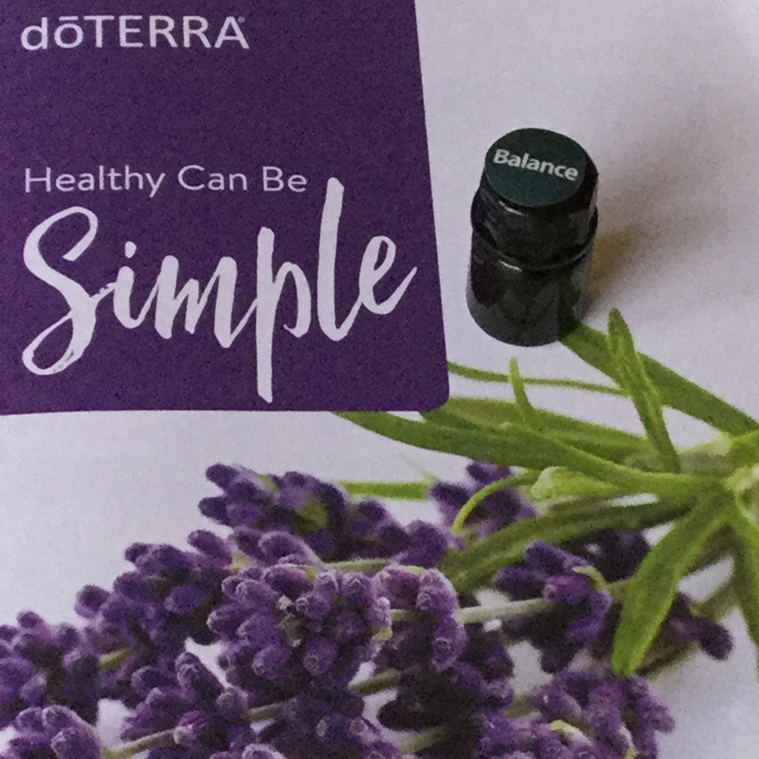 Oil: 2ml Balance dōTerra Essential Oil