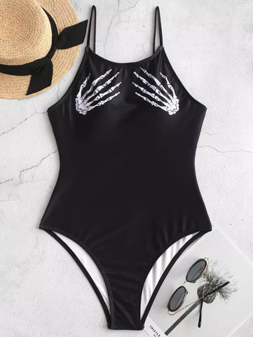 Skulls Swimsuit - Alternative Fashion