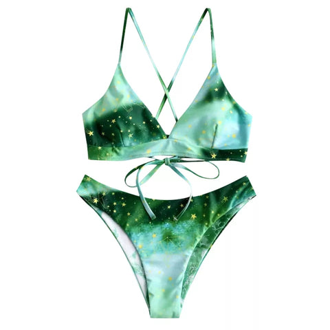 Galaxy Green Bikini - Alternative Fashion