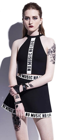 No music No life Dress - Alternative Fashion