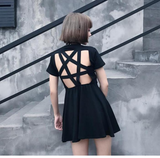 Pentagram Mini Dress - Alternative Fashion