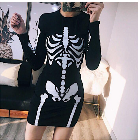 Skeleton Dress - Alternative Fashion