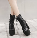 Vienna Platform Boots - Alternative Fashion