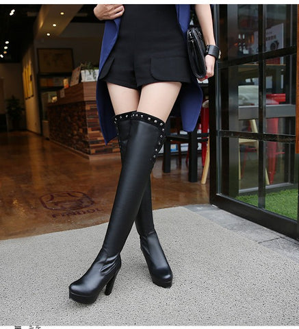 My Michelle Knee Boots - Alternative Fashion