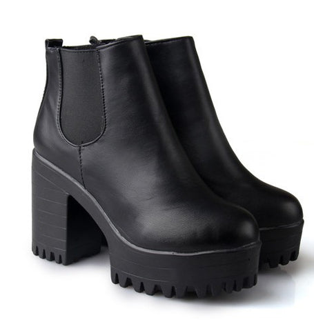 Take It Easy Booties (3 colors) - Alternative Fashion