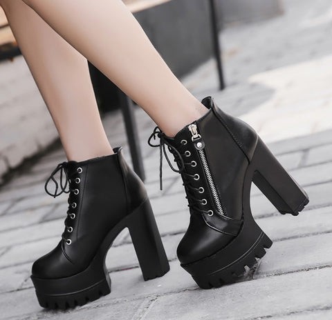 Whole Lotta Love Platform Boots - Alternative Fashion