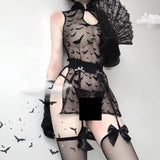 Bats Mesh Lingerie Set - Alternative Fashion