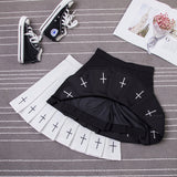 College Cross Skirt - Alternative Fashion