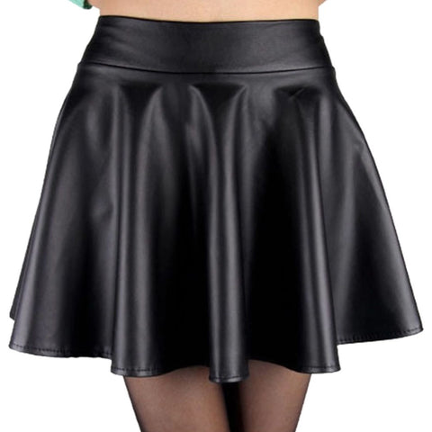 Black Leather Skirt - Alternative Fashion