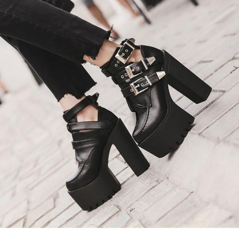 Rocker Platform Boots - Alternative Fashion