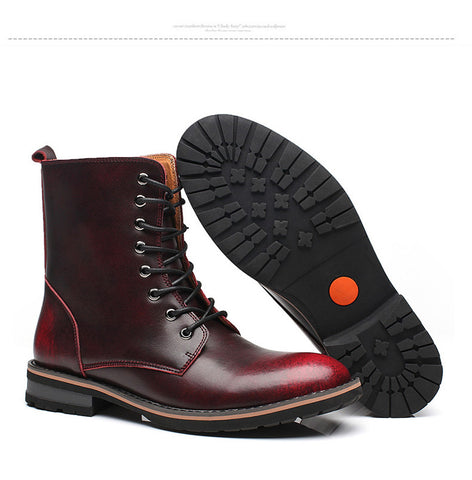 Red Wine Boots - Alternative Fashion