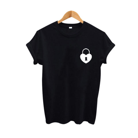 T-Shirt Heart Locked - Alternative Fashion