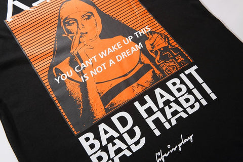 T-Shirt Bad Habit - Alternative Fashion