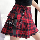 Plain/Plaid Shorts Mini Skirt - Alternative Fashion