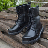 Black Combat Boots - Alternative Fashion