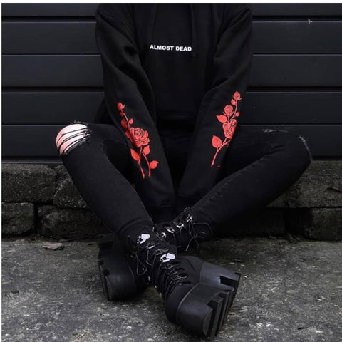 Goth Hoodie Almost - Alternative Fashion