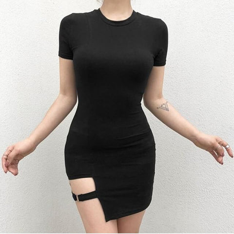 Asymmetrical Bodycon Dress - Alternative Fashion