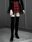 Rocker Plaid Skirt