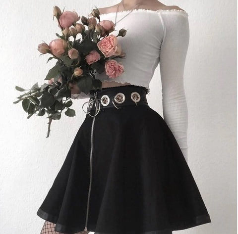 Black Skirt Gothic Dark - Alternative Fashion