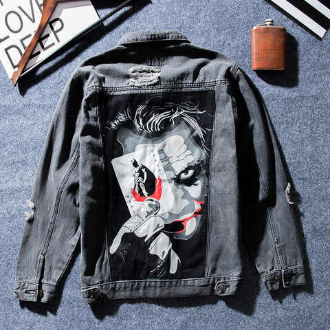 Denim Jacket Joker Unissex - Alternative Fashion