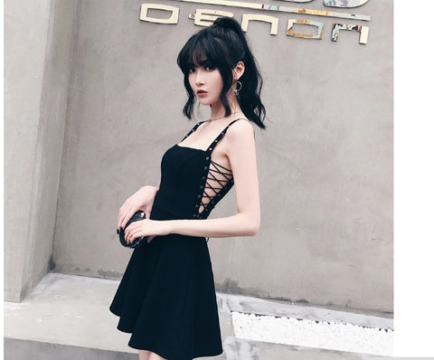Non Basic Black Dress - Alternative Fashion