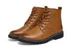 Men Mid Calf Boots Brown