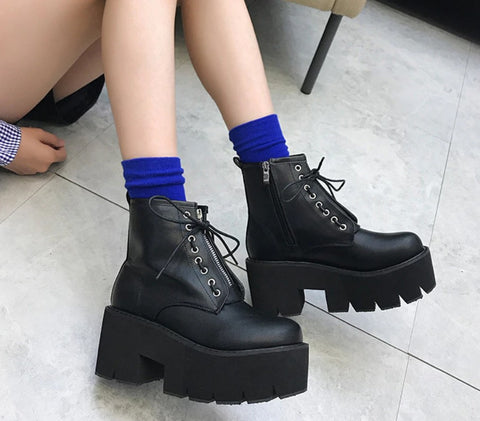 Chunky Platform Boots - Alternative Fashion