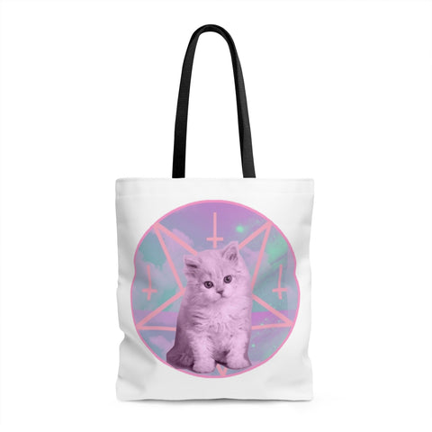 Pentagram Cat Tote Bag - Alternative Fashion