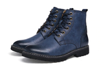 Men Mid Calf Botos Blue - Alternative Fashion