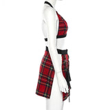 Plaid Halter Top and Skirt - Alternative Fashion