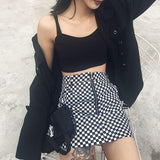 Checkered Black and White Skirt - Alternative Fashion