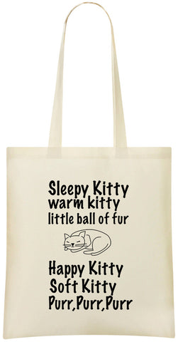 Sleepy Kitty Warm Kitty Tote Bag - Alternative Fashion