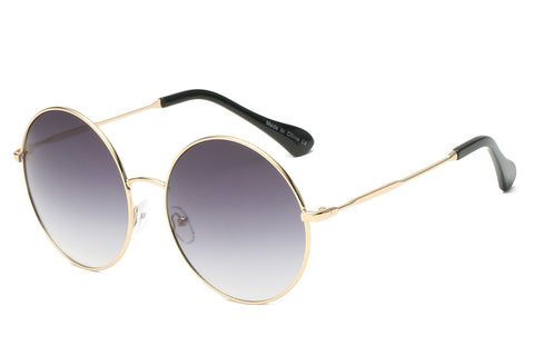 Women Metal Circle Round Oversized Fashion Sunglasses UV Protection - Alternative Fashion