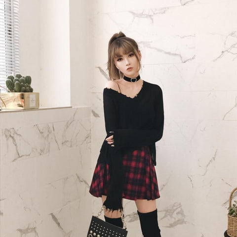 Goth Pullover Top - Alternative Fashion