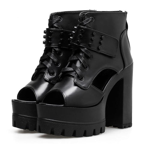 Lace Up Platform Shoes
