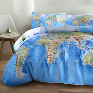 World map bedding set with pillowcases journeyequipment world map bedding set with pillowcases gumiabroncs Images