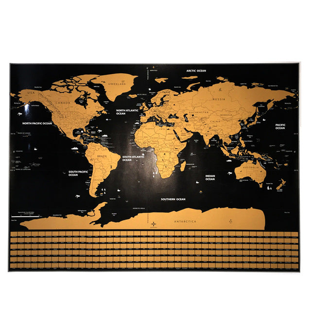 Deluxe travel scratch off world map poster journeyequipment deluxe travel scratch off world map poster publicscrutiny Gallery