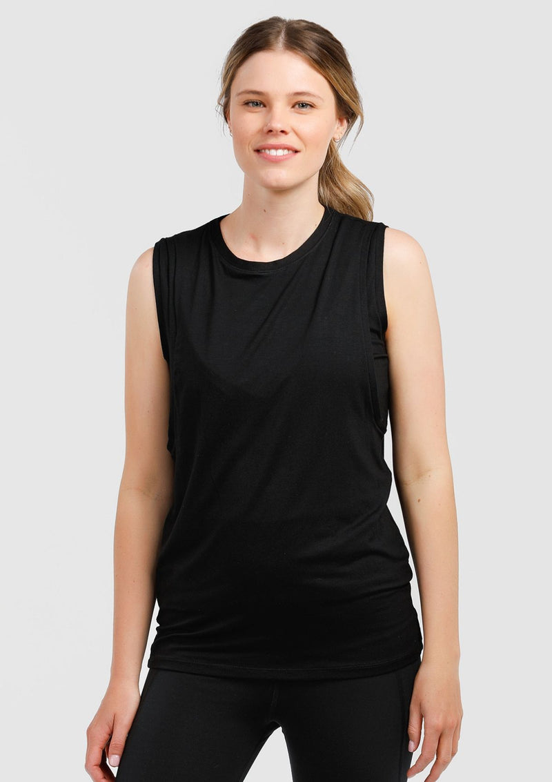 Cherish Me Nursing Tank (Black) (4299835310125)