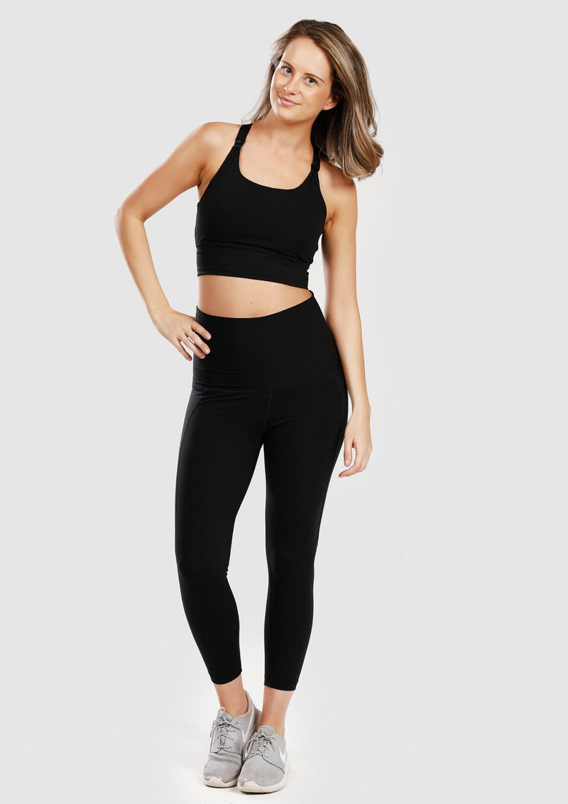 Long Line Sports Bra (Black)